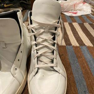 Balenciaga high top leather sneakers